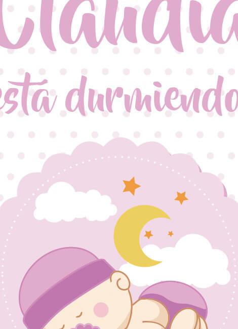 lamina-bebe-infantil-decoracion-cuadro-durmiendo-nina2